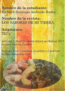 LOS SABORES DE MI TIERRA