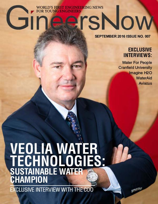 Veolia Water Technologies by GineersNow Engineering Magazine GineersNow Engineering Magazine September 2016