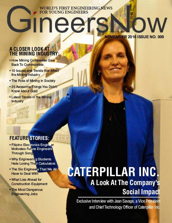Caterpillar Inc Heavy Equipment CSR by GineersNow Engineering GineersNow Engineering Magazine November 2016