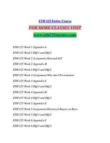 ETH 125 MENTOR  Creative and Effective /eth125mentor.com