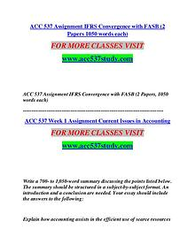 ACC 537 STUDY Start With a Dream /acc537study.com