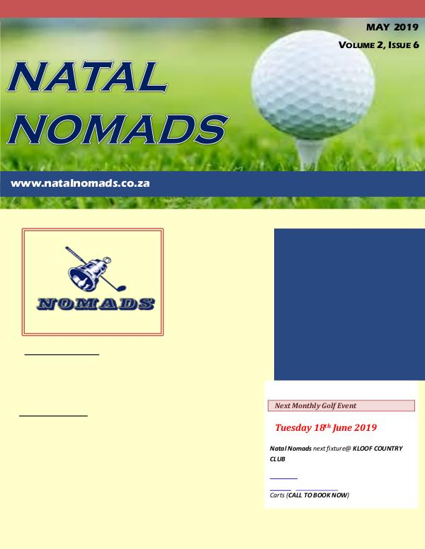 NATAL NOMADS Golf Club Monthly issue Newsletter Durban Country Club Volume 2 Issue 6 20