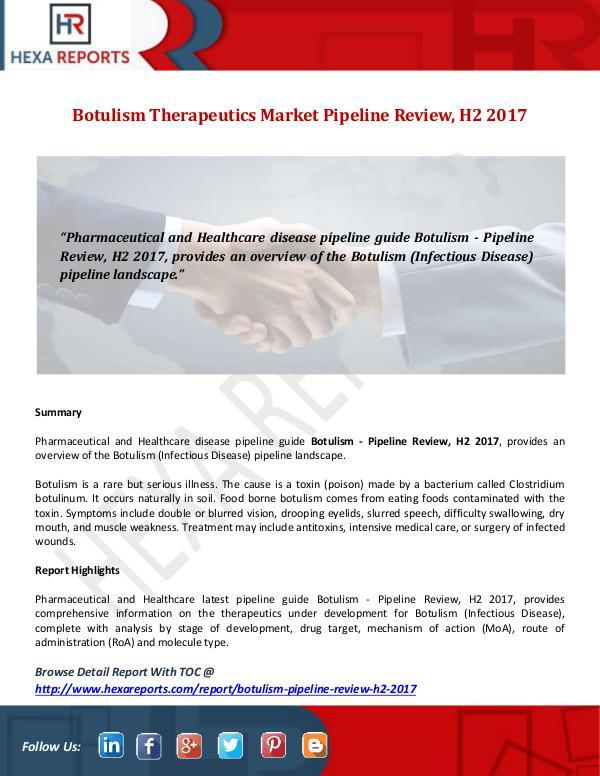 Hexa Reports Botulism Therapeutics Market