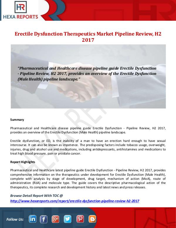 Erectile Dysfunction Therapeutics Market