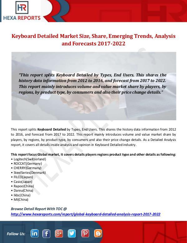 Hexa Reports Keyboard Detailed Market