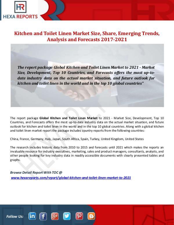 Hexa Reports Kitchen and Toilet Linen Market