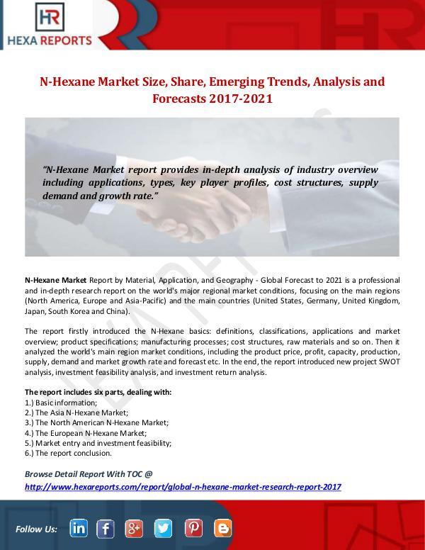 Hexa Reports N-Hexane Market