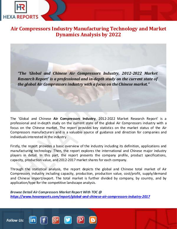 Air Compressors Industry Manufacturing Technology