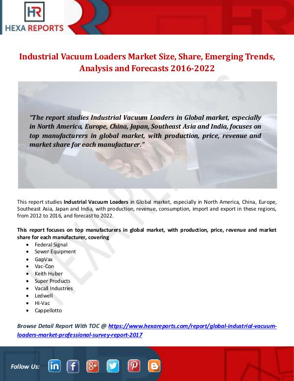 Industrial Vacuum Loaders Market