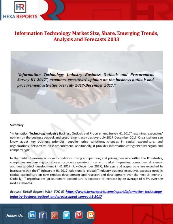 Hexa Reports Information Technology Market Size, Share, Emergin