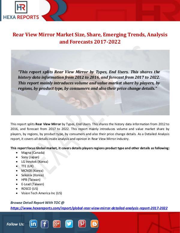 Rear View Mirror Market Size, Share, Emerging Tren