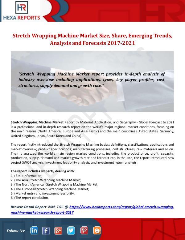 Stretch Wrapping Machine Market Size, Share, Emerg