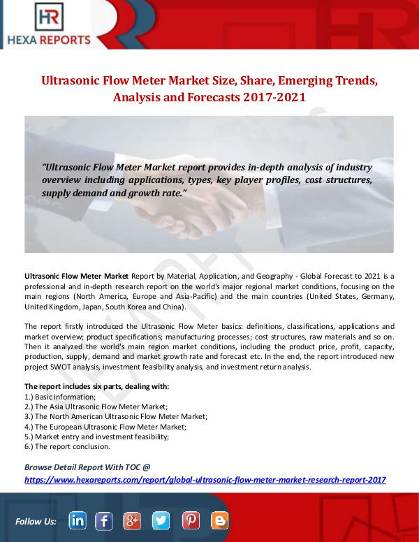 Ultrasonic Flow Meter Market Size, Share, Emerging