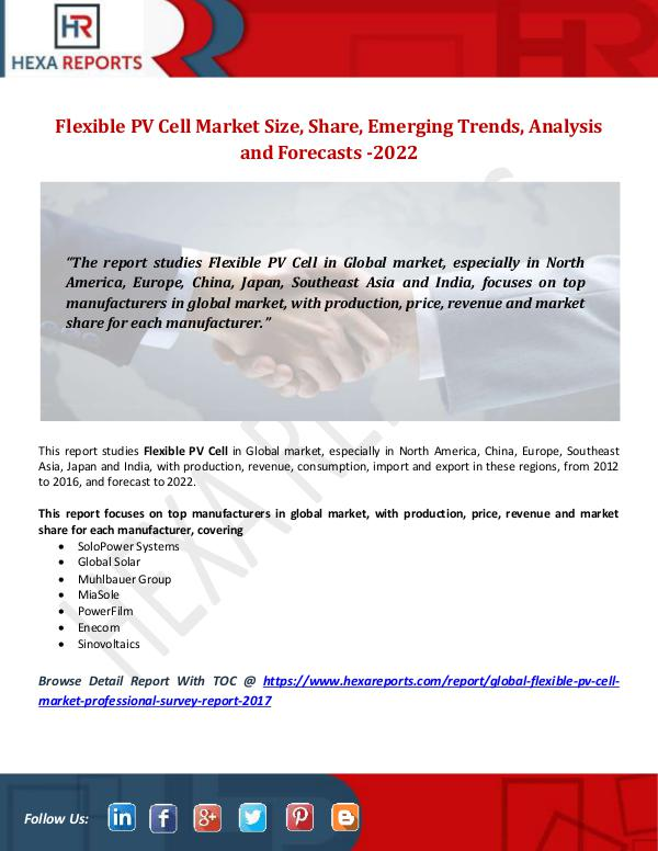 Flexible PV Cell Market Size, Share, Emerging Tren