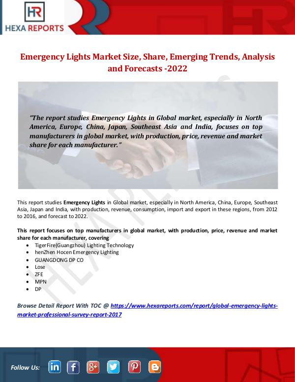 Emergency Lights Market Size, Share, Emerging Tren