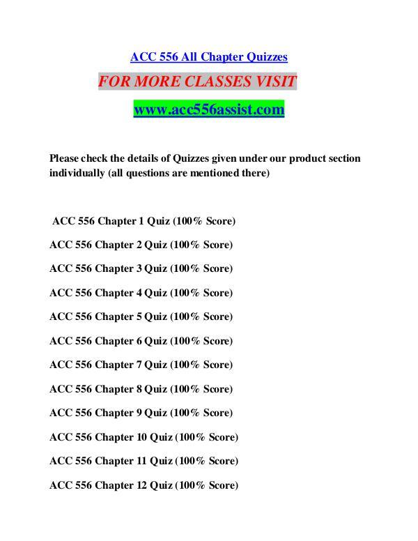 ACC 556 ASSIST Perfect Education/acc556assist.com ACC 556 ASSIST Perfect Education/acc556assist.com