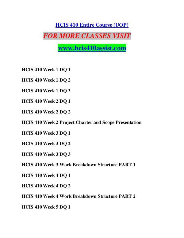 HCIS 410 ASSIST Perfect Education/hcis410assist.com HCIS 410 ASSIST Perfect Education/hcis410assist.co