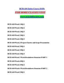 HCIS 410 ASSIST Perfect Education/hcis410assist.com