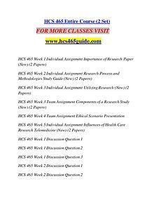 HCS 465 GUIDE Perfect Education/hcs465guide.com