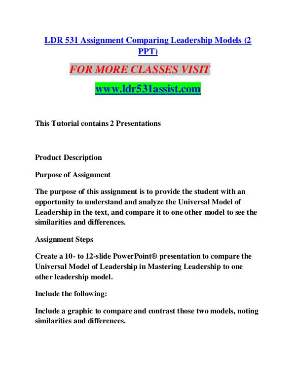 HCS 465 GUIDE Perfect Education/hcs465guide.com LDR 531 ASSIST Perfect Education/ldr531assist.com