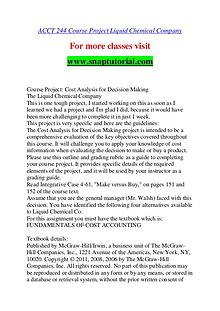 ACCT 244 help A Guide to career/Snaptutorial