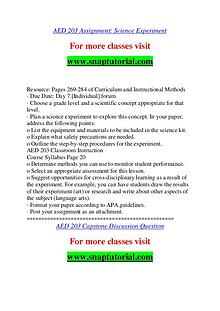 AED 203 help A Guide to career/Snaptutorial