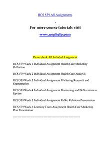 HCS 539 help Minds Online/uophelp.com