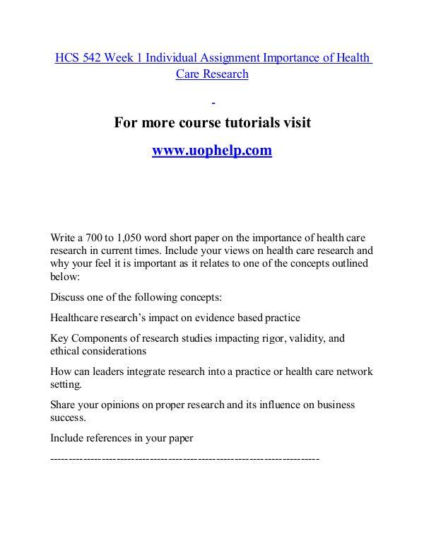 HCS 542 help Minds Online/uophelp.com HCS 542 help Minds Online/uophelp.com