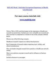 HCS 542 help Minds Online/uophelp.com