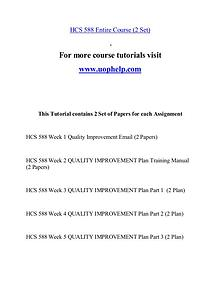 HCS 588 help Minds Online/uophelp.com