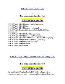 HHS 307(ash) help Minds Online/uophelp.com