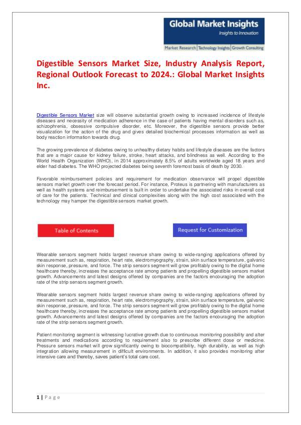 GMI Digestible Sensors Market