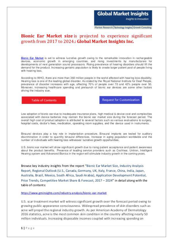 GMI Bionic Ear Market