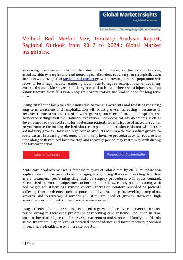 GMI Medical Bed Market