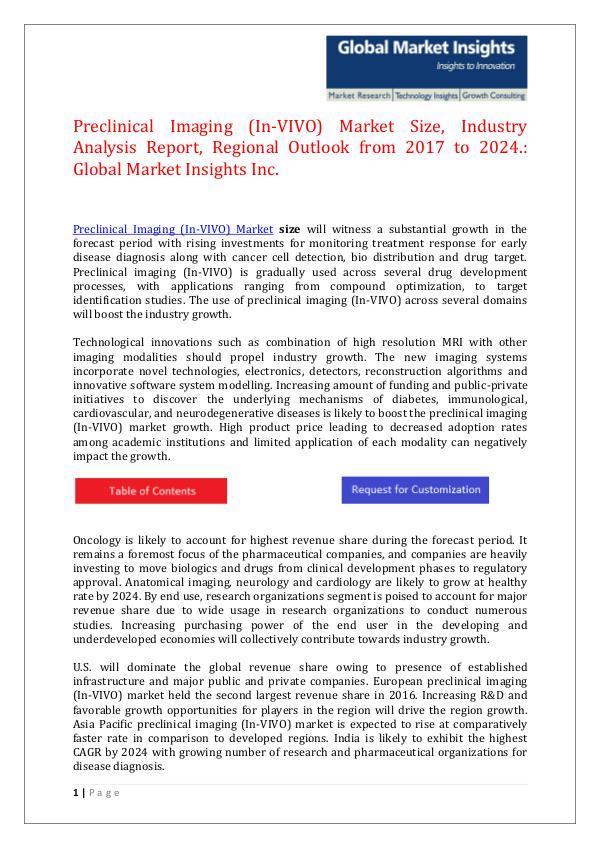 GMI Preclinical Imaging (In-VIVO) Market