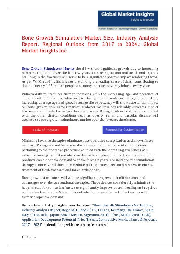 GMI Bone Growth Stimulators Market