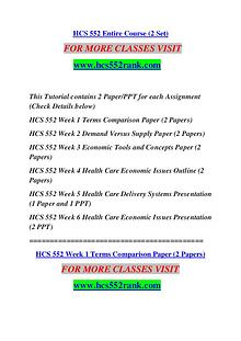 HCS 552 RANK Keep Learning /hcs552rank.com