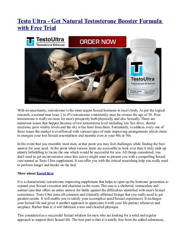 Testo Ultra - Get Natural Testosterone Booster Formula with Free Tria Testo Ultra - Get Natural Testosterone Booster For
