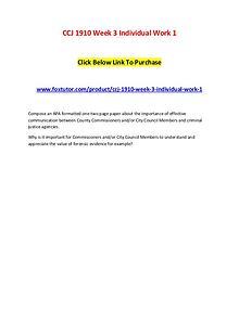 CCJ 1910 Week 3 Individual Work 1