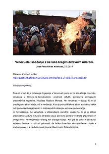 Venezuela-soočanje z ne tako blagim državnim udarom