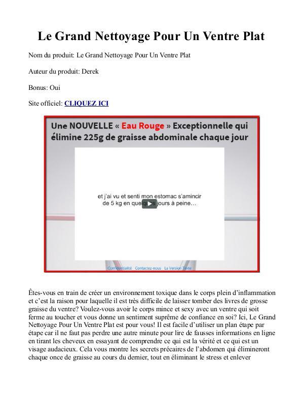 Le Grand Nettoyage Pour Un Ventre Plat PDF / Livre Gratuit Télécharge Le Grand Nettoyage Pour Un Ventre Plat Avis