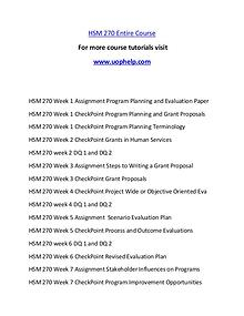 HSM 270 Help A Clearer path to student success/uophelp.com