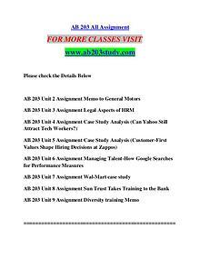 AB 203 STUDY Extraordinary Success/ab203study.com
