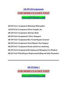 AB 219 STUDY Extraordinary Success/ab219study.com