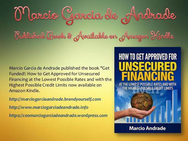 Marcio Garcia de Andrade - Published Book & Available on Amazon Kindl information