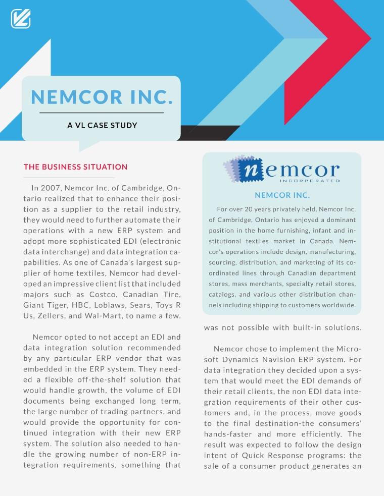Nemcor Inc. : A VL Case Study