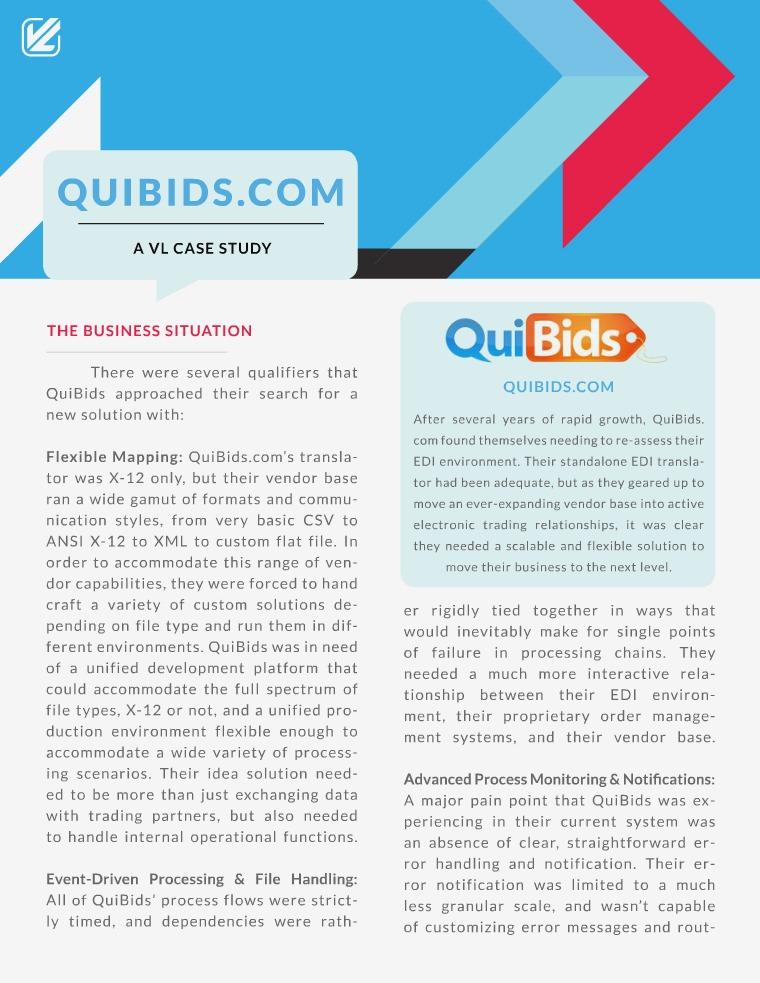 How Data Integration Helped QuiBids.com - A VL Case Study Quibids - A VL Case Study