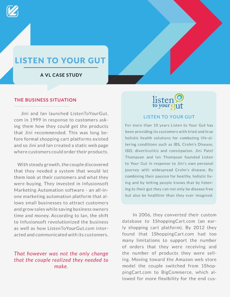 Listen To Your Gut Case Study