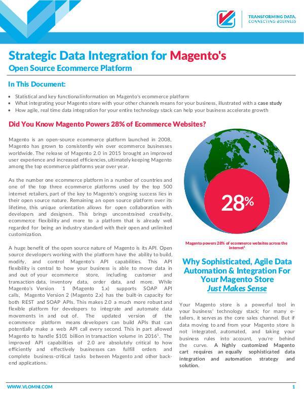 Strategic Data Integration for Magento's Open Source Ecommerce Stores September 2017