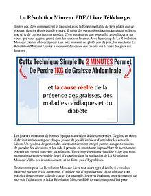 La Révolution Minceur PDF / Livre Gratuit Télécharger